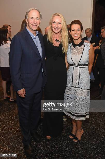 OceanX Founder Ray Dalio Shari Sant Plummer and Stephanie Ruhle attend the Launch Of OceanX a bold new initiative for ocean exploration at the...