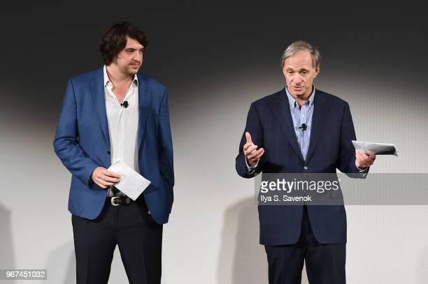 OceanX Media Founder and Creative Director Mark Dalio and OceanX Founder Ray Dalio speak onstage during the Launch Of OceanX a bold new initiative...