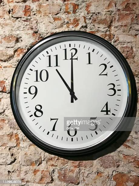 11 o'clock - wall clock stock photos and pictures