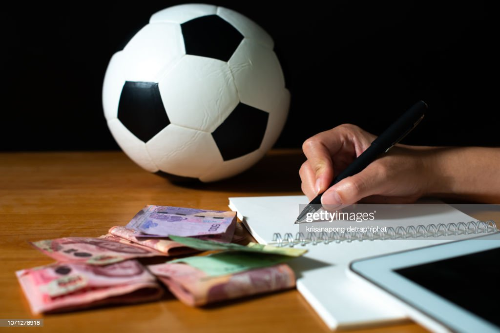 Oconcept Of Getting Money With Bets In Footballfootball Betting High-Res  Stock Photo - Getty Images