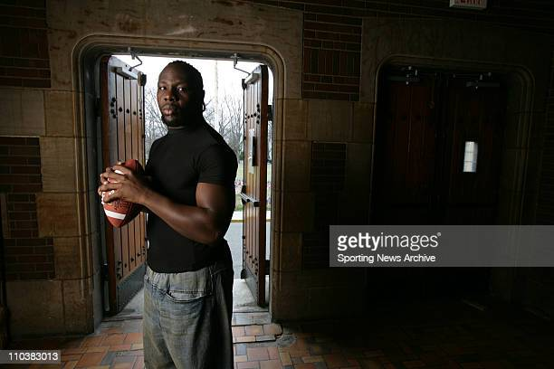 Oct 05 2006 Teaneck NJ USA Penn State TAMBA HALI poses for a portrait at the Teaneck National Guard Armory Hali is expected to go high in the...