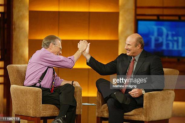 Oct 1 2002 Television veteran Larry King takes the interviewee chair as he is interviewed by talk show newcomer Dr Phil McGraw The DR PHIL show...
