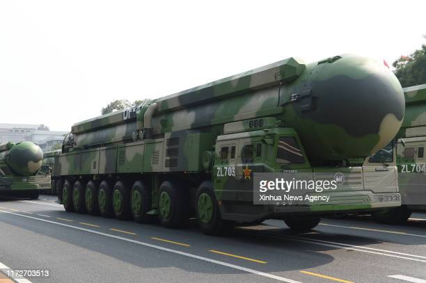 Oct. 1, 2019 -- The formation of Dongfeng-41 nuclear missiles takes part in a military parade celebrating the 70th anniversary of the founding of the...