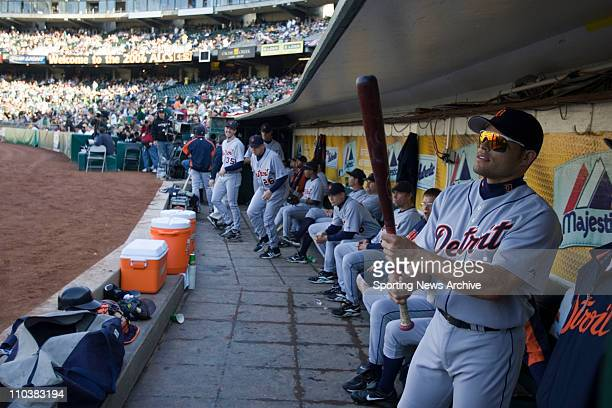 Oct 11 2006 Oakland CA USA The Detroit Tigers IVAN RODRIGUEZ against the Oakland Athletics during Game One of the American League Championship Series...