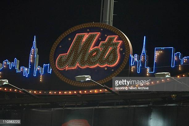 Oct 12 2006 New York NY USA New York Mets logo during Game 1 of the National League Division Series The Mets won 20