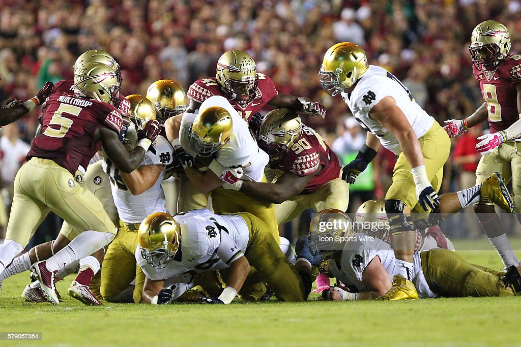 NCAA FOOTBALL: OCT 18 Notre Dame at Florida State : News Photo
