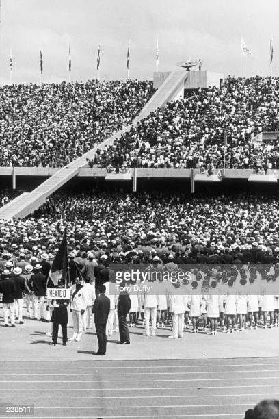 The Opening Ceremony of the 1968 Olympic Games in Mexico City Mandatory Credit Tony Duffy/ALLSPORT