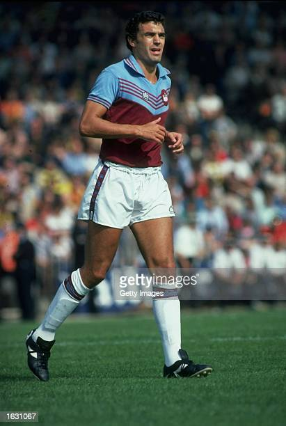 Trevor Brooking of West Ham United in action during a match Mandatory Credit Allsport UK /Allsport