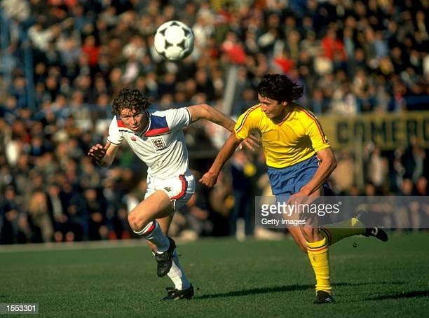Clive Allen of England in action during an international match Mandatory Credit Allsport UK /Allsport