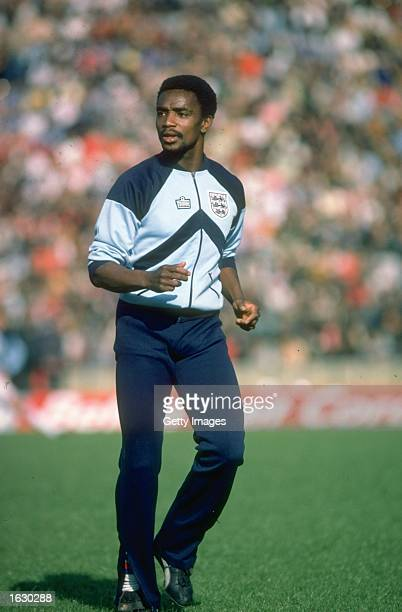 Laurie Cunningham of England warms up before a match Mandatory Credit Allsport UK /Allsport