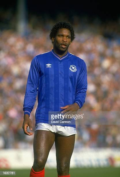 Portrait of Noel Blake of Portsmouth during a Canon League Division Two match against Charlton Athletic at Fratton Park in Portsmouth England...