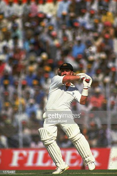 David Boon of Australia in action during a World Cup match against India at Feroz Shah Kotla in Delhi India Mandatory Credit Adrian Murrell/Allsport