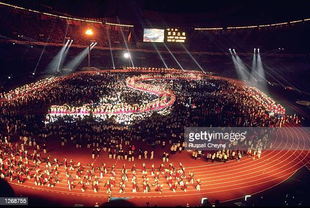 General view of the Closing Ceremony of the 1988 Olympic Games at the Olympic Stadium in Seoul, South Korea. \ Mandatory Credit: Russel...