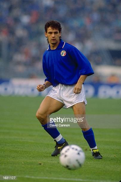 Roberto Baggio of Italy in action during a Friendly match against Brazil at the Renato Dall''Aria Stadium in Bologna Italy Brazil won the match 10...