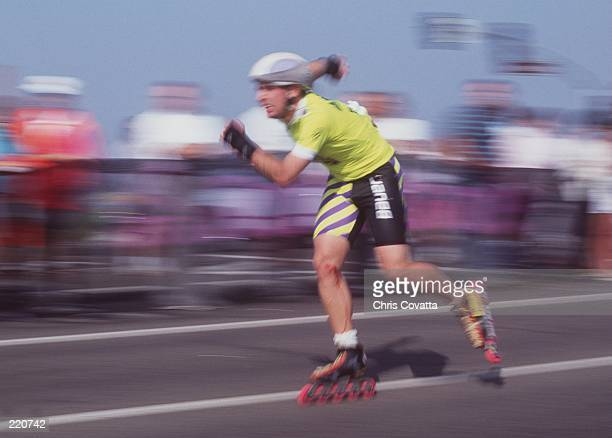 A competitor skates during the National Rollerblading Championships in Irvine California Mandatory Credit Chris Covatta/ALLSPORT
