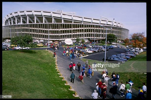 General view of RFK Stadium home of the Washington Redskins and the DC United in Washington DC Mandatory Credit Rick Stewart /Allsport