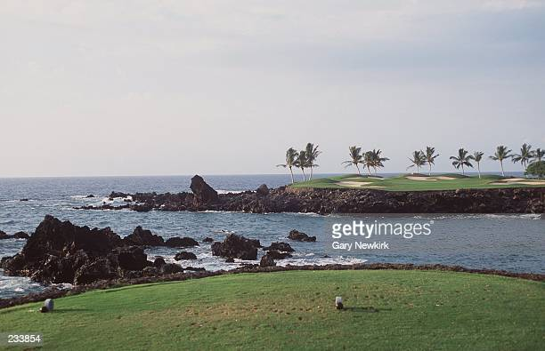A view of the 15th hole at the Mauna Lani Golf Course and Resort in Kohala Coast Hawaii Mandatory Credit Gary Newkirk/ALLSPORT