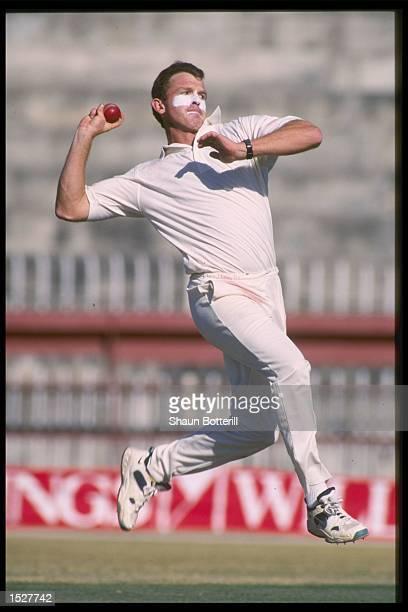 Craig McDermott of Australia bowling during the Australian tour of Pakistan Mandatory Credit Shaun Botterill/Allsport UK