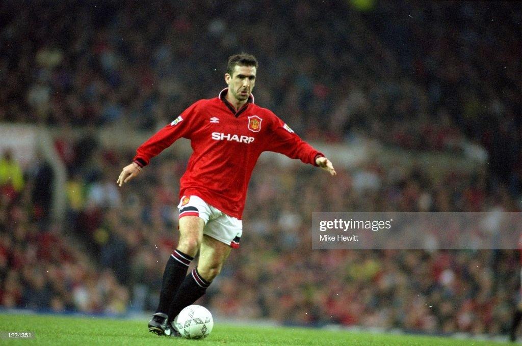 Eric Cantona of Manchester United : News Photo