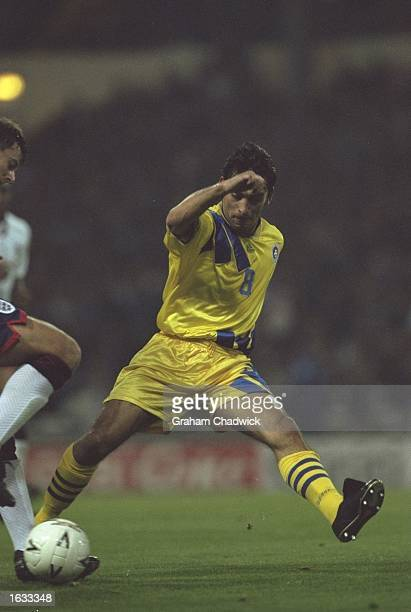 Illie Dumitrescu of Romania in action during a Friendly match against England at Wembley Stadium in London The match ended in a 11 draw Mandatory...
