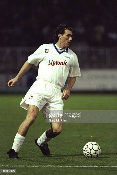 Laurent Blanc of France in action during a UEFA Cup Second Round match against Nottingham Forest at Auxerre in France Nottingham Forest won the match...