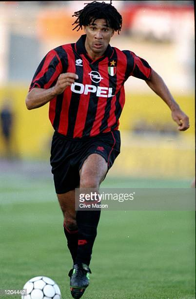 Ruud Gullit of AC Milan in action during a Serie A match against Padova Calico at the Silvio Appiani Stadium in Padua Italy Padova Calico won the...