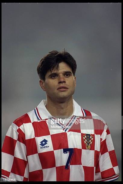 Portrait of Aljosa Asanovic of Croatia during the European Championships qualifier against Italy