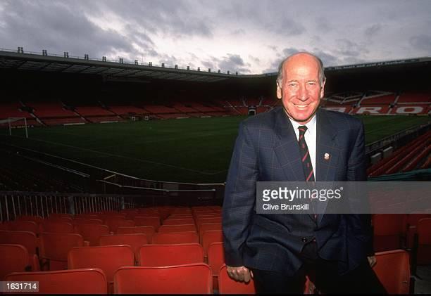 Portrait of ex Manchester United footballer Sir Bobby Charlton at Old Trafford in Manchester, England. \ Mandatory Credit: Clive Brunskill/Allsport