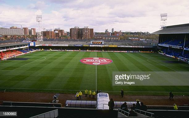 A general view of Filbert Street the ground of Leicester City Football Club Mandatory Credit Allsport