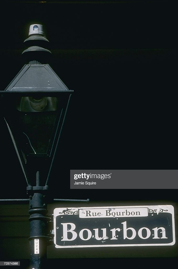 Bourbon Street Sign : ニュース写真