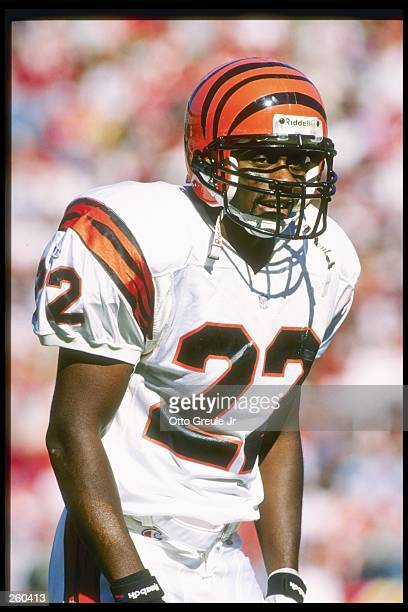 Defensive back Jimmy Spencer of the Cincinnati Bengals looks on during a game against the San Francisco 49ers at 3Com Park in San Francisco...