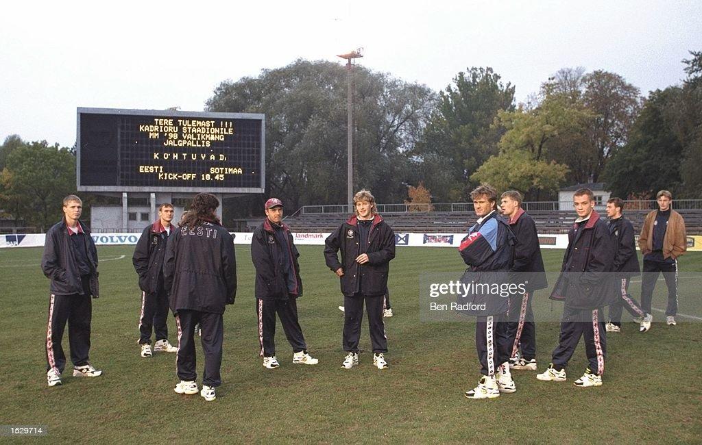 Dejected Estonia players : Photo d'actualité