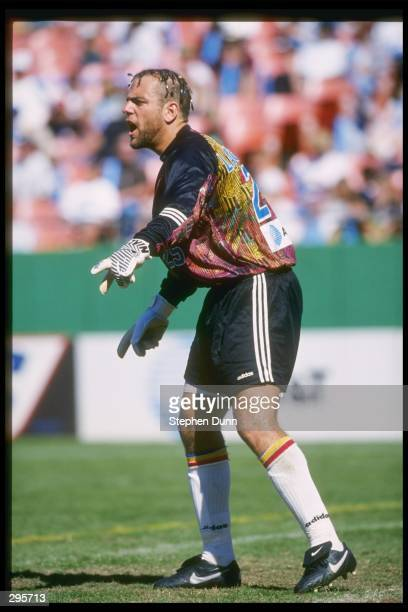 Garth Lagerwey of the Kansas City Wizards points during their 21 MLS Western Conference Finals shoot out loss to the Los Angeles Galaxy at the...