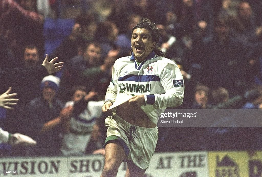 Ivano Bonetti scores Tranmere's winner during the Nationwide division one match between Tranmere Rovers and Portsmouth at Prenton park in Tranmere. Tranmere won the match by 4-3. Mandatory Credit: Steve Lindsell/Allsport