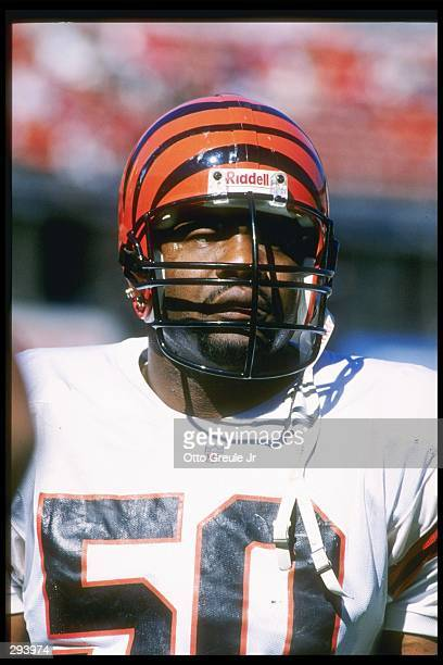 Linebacker James Francis of the Cincinnati Bengals looks on during a game against the San Francisco 49ers at 3Com Park in San Francisco California...