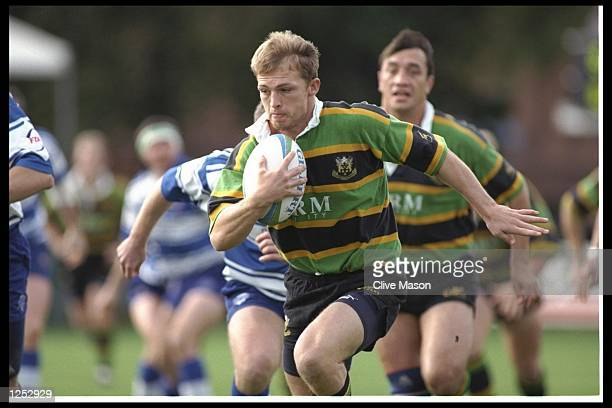 Matt Dawson of Northampton in action during the Courage League division one match between Northampton and Sale at Franklin Gardens, Northampton....