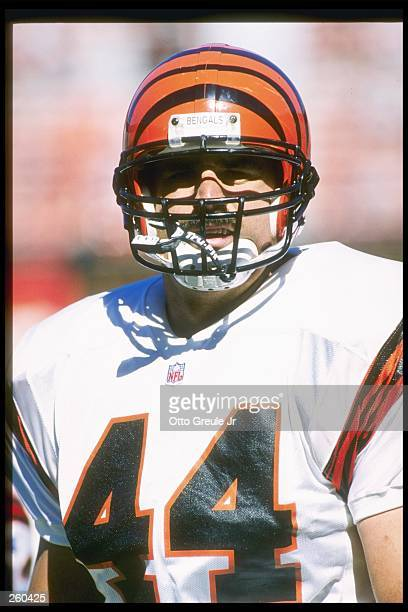 Running back Brian Milne of the Cincinnati Bengals looks on during a game against the San Francisco 49ers at 3Com Park in San Francisco California...