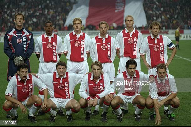 A group photograph of the Ajax Team before a UEFA Cup match against Udinese at the Amsterdam Arena in Holland Ajax won the match 10 Mandatory Credit...