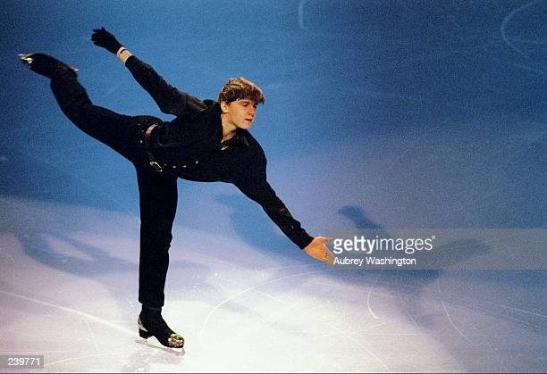 Alexander Abt of Russia does his routine during the Thrifty Car Rental Skate America at the Joe Louis Arena in Detroit Michigan Mandatory Credit...