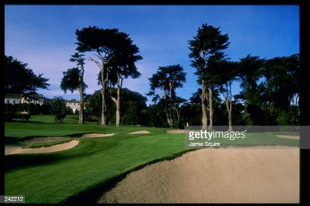 General view of the seventh hole at the Olympic Club home of the 1998 US Open Site in San Francisco California