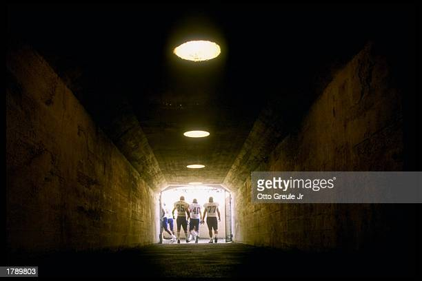General view of the stadium tunnel during a game between the Washington Huskies and the California Bears at Memorial Stadium in Berkeley, California....