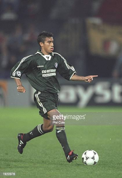 Giovanni van Bronckhorst of Feyenoord in action during the Champions League match against FC Kosice at the De Kuip stadium in Rotterdam Holland...