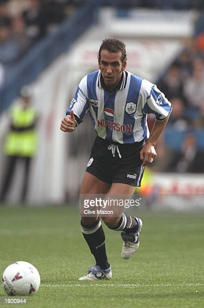 Paolo Di Canio of Sheffield Wednesday in action during the FA Carling Premiership match against Everton at Hillsborough in Sheffield, England....