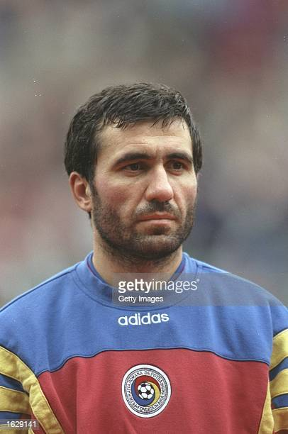 Portrait of Gheorghe Hagi of Romania before the World Cup qualifying match against the Republic of Ireland at Lansdowne Road in Dublin Ireland...