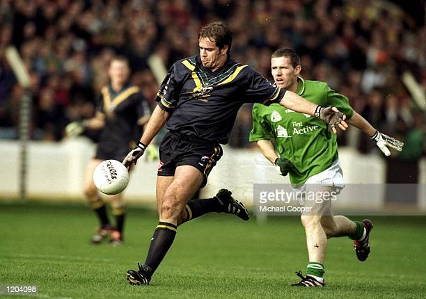 A general view of play during the International Rules match between Ireland and Australia at Croke Park in Dublin Ireland Mandatory Credit Michael...