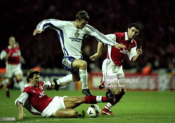 Andrii Shevchenko of Kiev in action during the UEFA Champions League match against Dynamo Kiev at Wembley in London England The game ended in a draw...