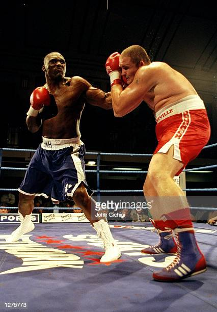 Danny Williams of Great Britain beats Antoine Palatis of France in the WBO Intercontinental heavyweight title fight at York Hall in Bethnall Green...