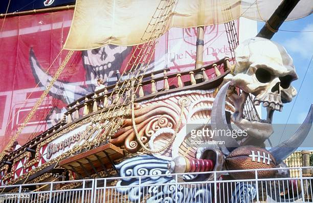 General view of pirate ship decor at the stadium during the game between the Carolina Panthers and the Tampa Bay Buccaneers at the Raymond James...