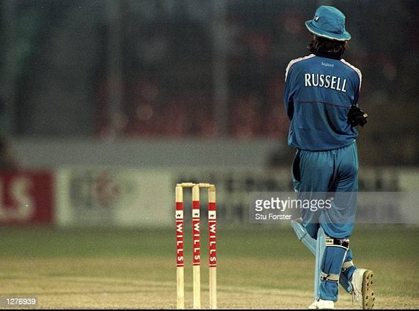 Jack Russell of England in action during the Wills International Cup at the Bangabandhu Nation Stadium in Dhaka Bangladesh Mandatory Credit Stu...