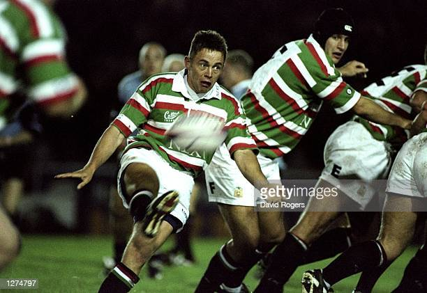 Jamie Hamilton of Leicester in action during a Rugby Union Friendly against Cardiff at Welford Road in Leicester England Cardiff won the game 3520...